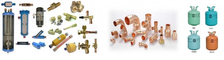 Vật tư điện lạnh (ống đồng, ga, nhớt, phụ kiện lắp kho lạnh...)